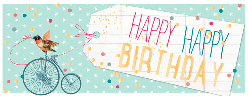 Greeting Card LONG - All Occasions (Happy Birthday Tag)