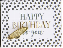 Music Box - Happy Birthday To You GOLD DOTS