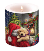 Candle SMALL - Puppy at Fire - COLLECTION