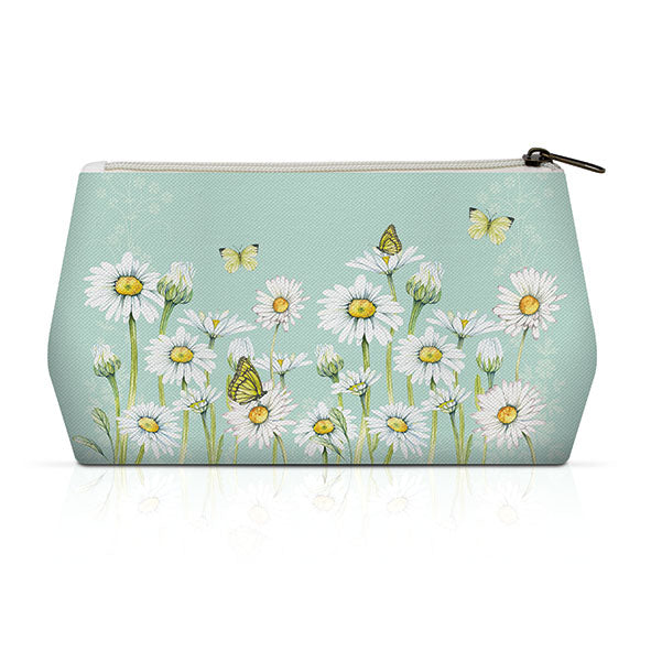 CANVAS Cosmetic Bag - Daisy GREEN - COLLECTION