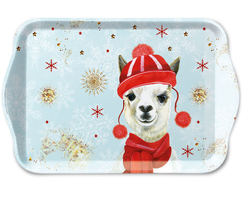 TRAY - Winter Lama (13 x 21 cm) - COLLECTION