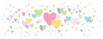 Greeting Card LONG - All Occasions (Colourful Hearts)