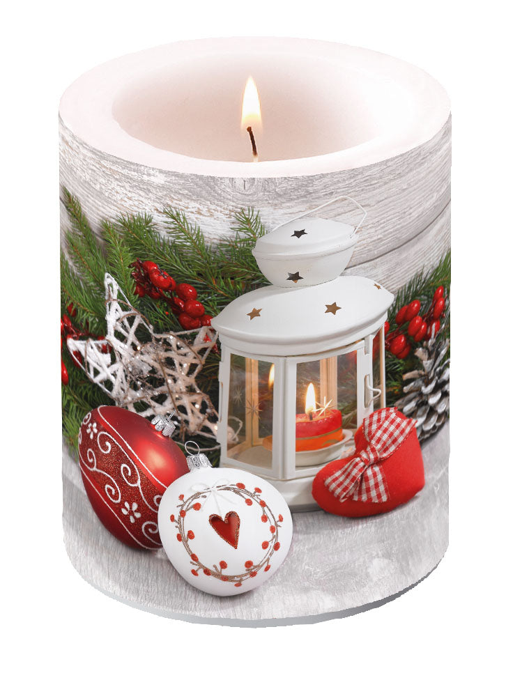 Candle LARGE - White Lantern - COLLECTION