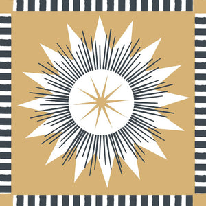 Lunch Napkin - Compass Star GOLD