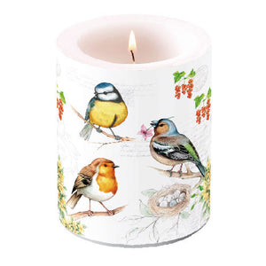 Candle LARGE - Birds on Twig - COLLECTION