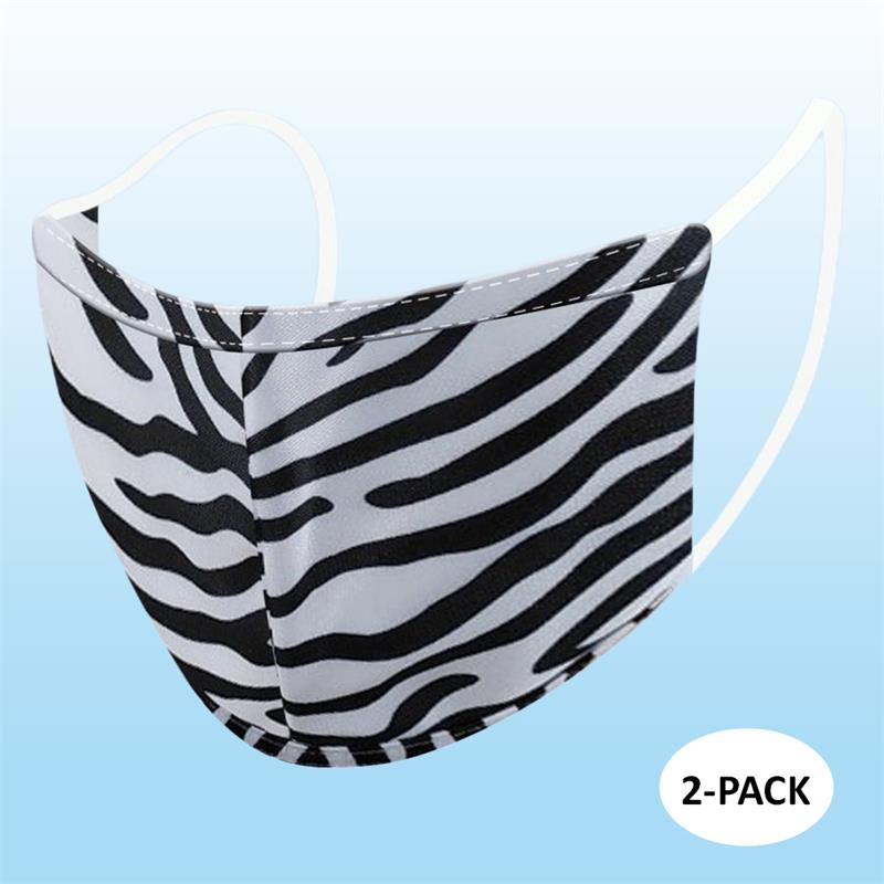 Face Mask - Zebra (Adult) - 2 PACK
