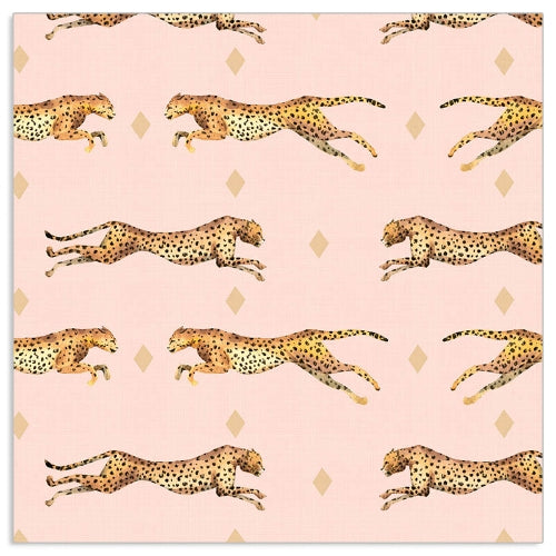 Lunch Napkin - Cheetah Pattern PINK