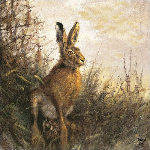 Lunch Napkin - Portrait of Hare