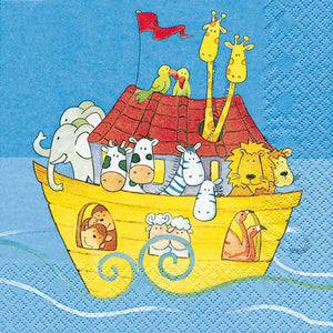 Load image into Gallery viewer, Lunch Napkin - Noah's Ark