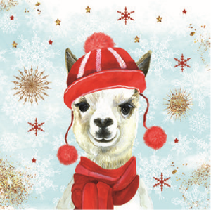Lunch Napkin - Winter Lama (Collection: 32513425)