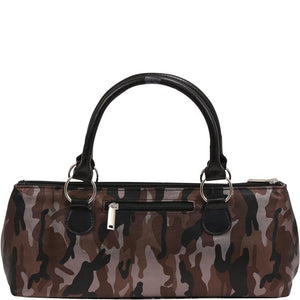 Load image into Gallery viewer, Wine Clutch - CAMOUFLAGE COFFEE Insulated Single Bottle Wine Tote