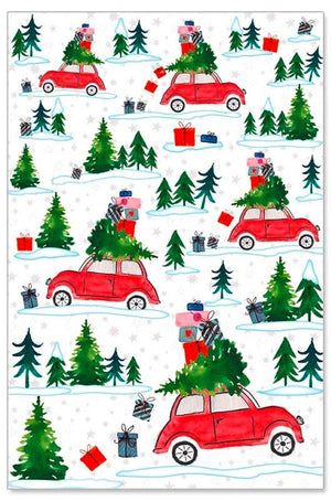 Greeting Card - Christmas (3D Christmas Car)