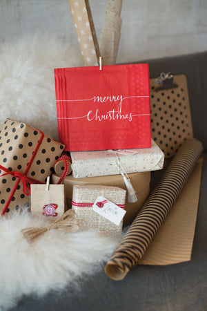 Load image into Gallery viewer, Cocktail Napkin - Christmas Note GOLD (Collection: 33311160)