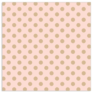 Lunch Napkin - GOLD Dots on PINK