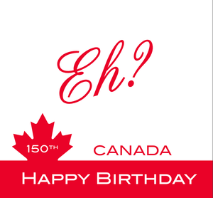 Load image into Gallery viewer, Lunch Napkin - Happy Canada 150th Birthday