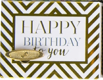 Music Box - Happy Birthday To You GOLD CHEVRON