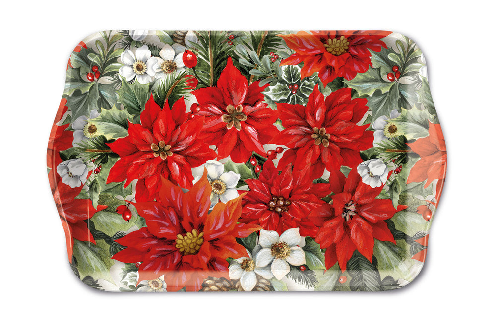 TRAY - Poinsettia All Over (13 x 21 cm) - COLLECTION
