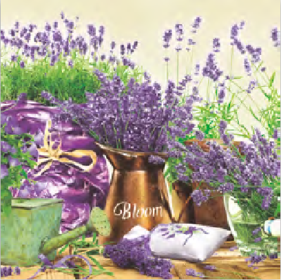 Load image into Gallery viewer, Lunch Napkin - Blooming Lavender CREAM