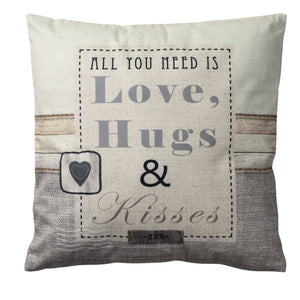 CUSHION - Love, Hugs & Kisses - COLLECTION