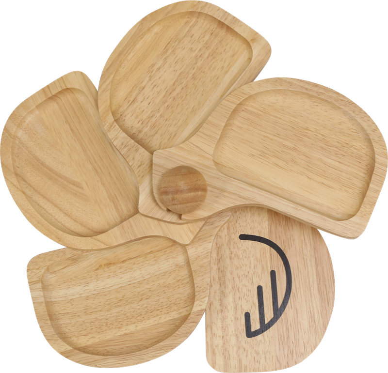 Wooden Appetizer Tray - CHICKEN
