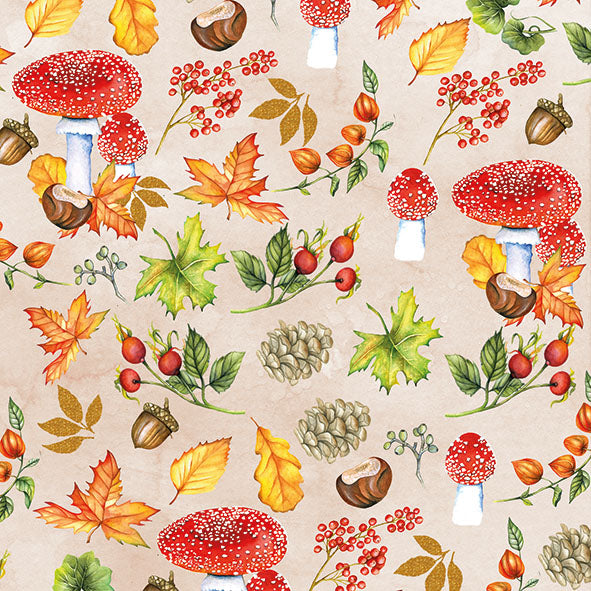 Lunch Napkin - Autumn Pattern (Collection: 12513480) - COLLECTION