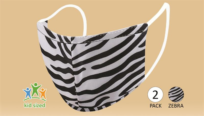 Face Mask - Zebra (Kids) - 2 PACK