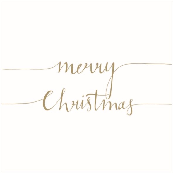 Lunch Napkin - Christmas Note POSITIVE GOLD