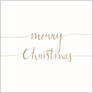 Load image into Gallery viewer, Lunch Napkin - Christmas Note POSITIVE GOLD