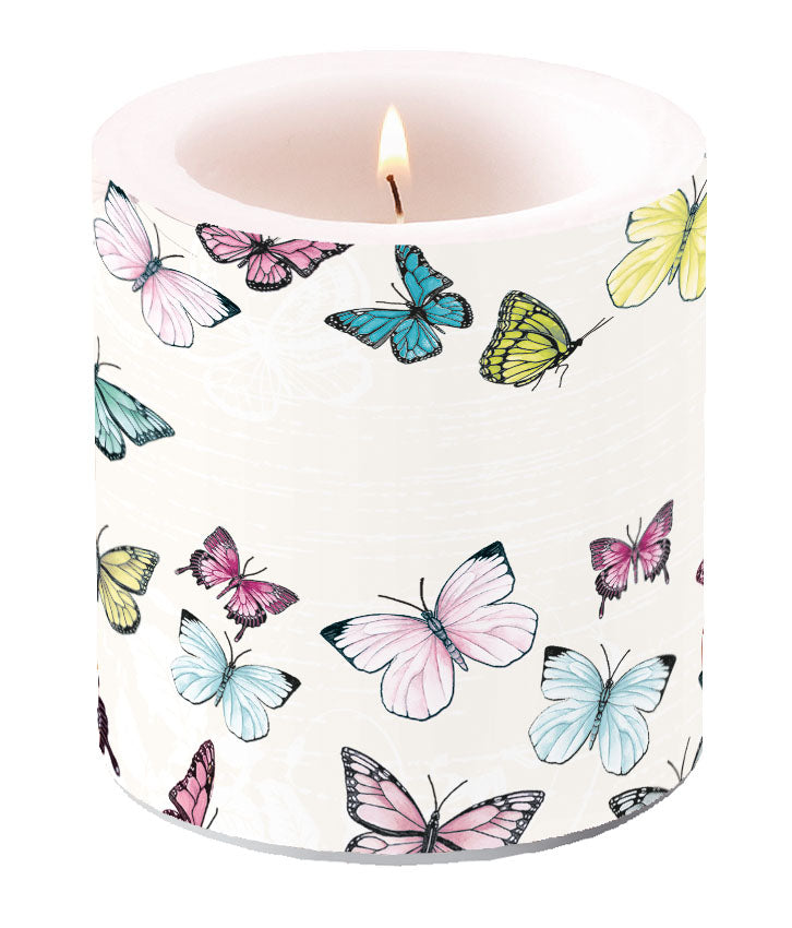 Candle SMALL - Butterfly WHITE - COLLECTION