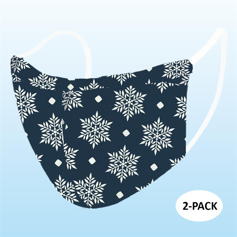 Face Mask - Snow Flake (Adult) - 2 PACK