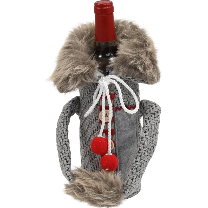 Wine Bottle Covers - Sweater GREY