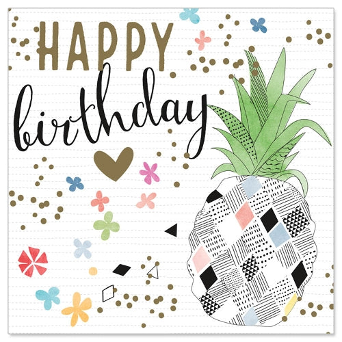 Greeting Card - Mini (Pineapple Birthday)