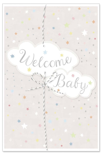 Greeting Card - Baby (Welcome Baby Clouds)