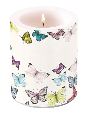 Candle LARGE - Butterfly WHITE - COLLECTION