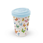 MUG (Bamboo Travel Mug) - Colourful Butterflies (400 mL) - COLLECTION