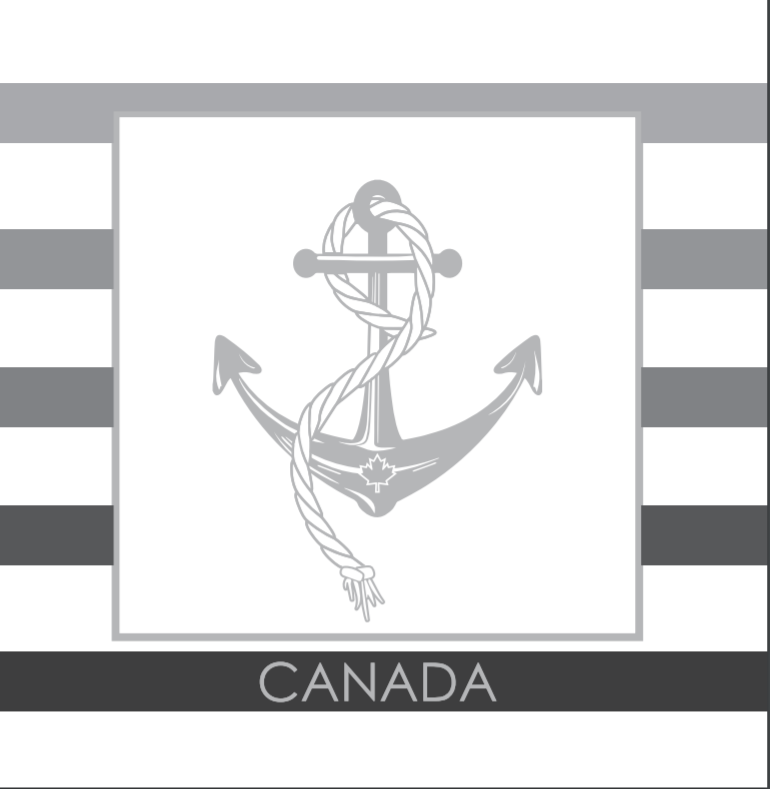 Lunch Napkin - Silver Anchor