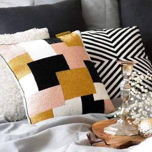 CUSHION - Beaded Modern Patches