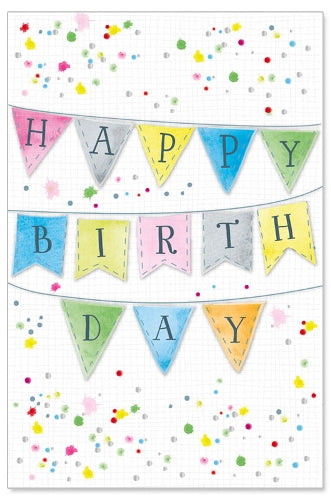 Greeting Card - Birthday (Happy Birthday Banner)
