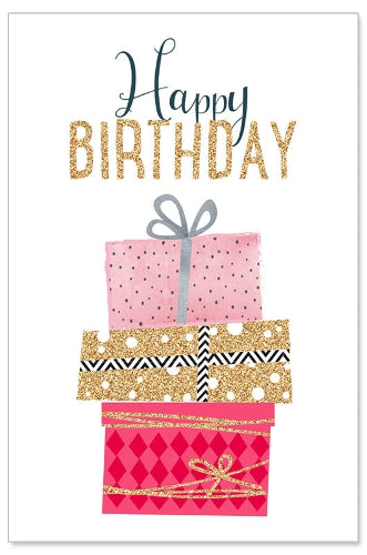 Greeting Card - Birthday (Glitter Presents)