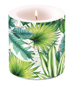 Candle SMALL - Tropical Leaves - COLLECTION