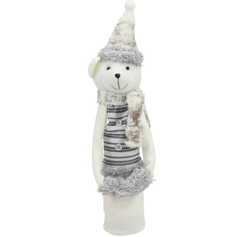 Wine Bottle Covers - Winter Bear WHITE