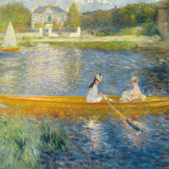 Lunch Napkin - Renoir - The Skiff (The National Gallery)