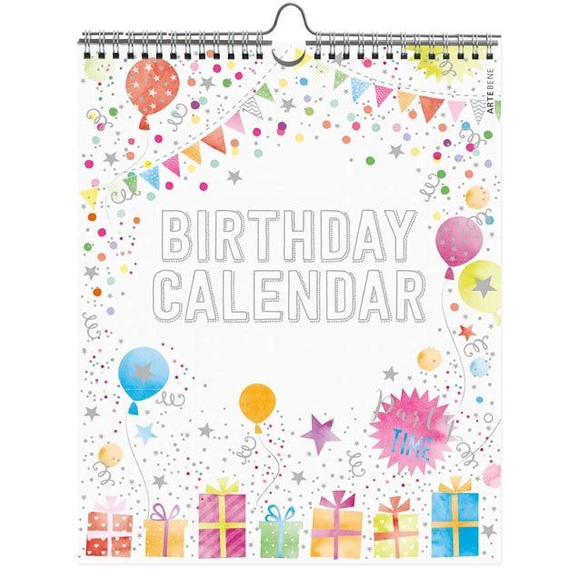 Birthday Calendar - Birthday Presents & Balloons