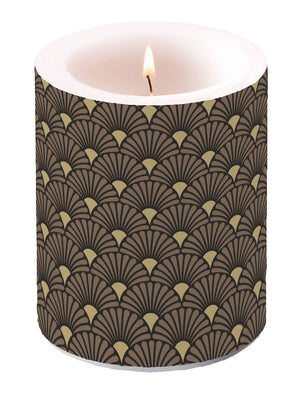 Candle LARGE - Art Deco BLACK-GOLD - COLLECTION