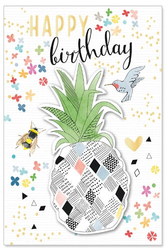 Load image into Gallery viewer, Greeting Card - Birthday (Pineapple)