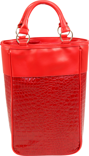 Wine Tote - RED CROC - 2 Bottle Wine Tote HARMONY