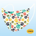 Face Mask - Dog Paws (Adult) - 2 PACK