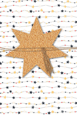Greeting Card - Christmas (3D Star with Ribbon)