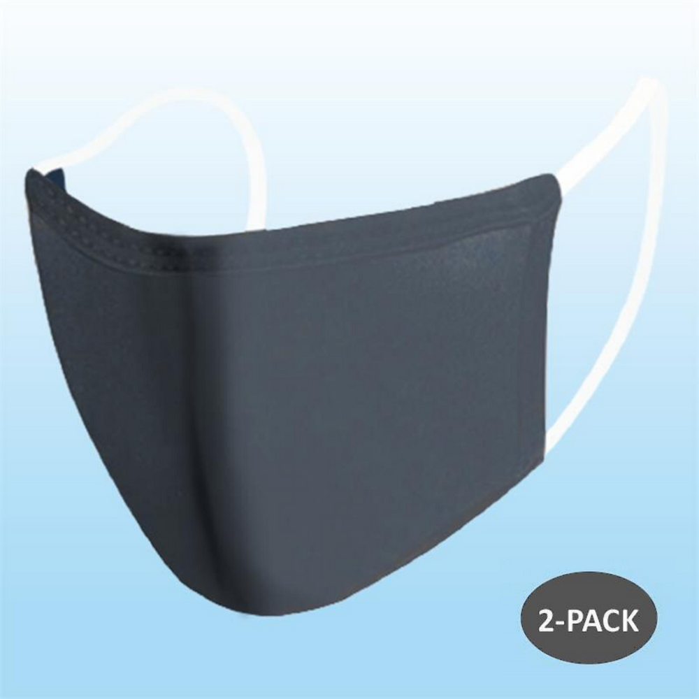 Face Mask - DARK GREY (Adult) - 2 PACK