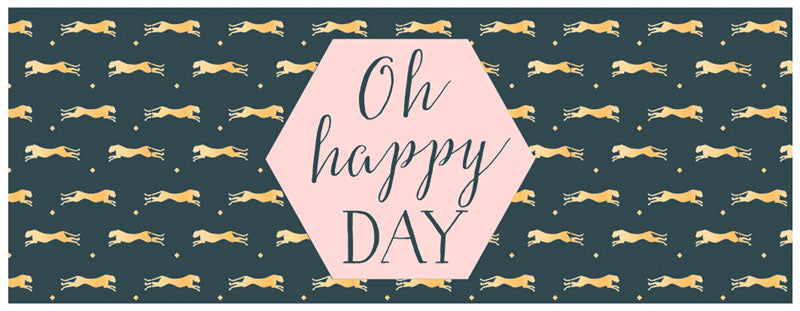Greeting Card LONG - All Occasions (Cheetah - Oh Happy Day)